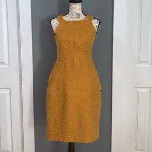 CHANEL Vintage Gold Mohair Blend Dress